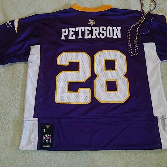 big sale 09b0a 6aa49 Reebok NFL Jerseys MN Vikings Adrian Peterson